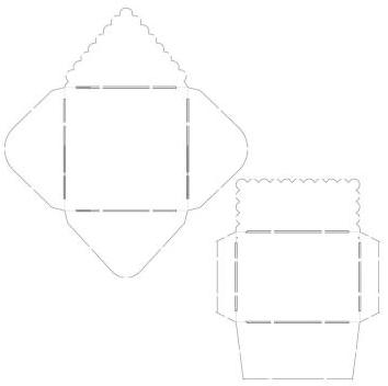 おしゃれな形の封筒テンプレート