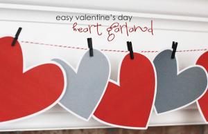 手作りバレンタインデコレーション