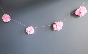 八重桜ガーランド作り方