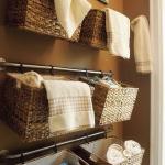 籠収納バスルーム方法
