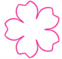 無料の桜テンプレート画像