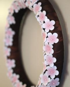 簡単手作り桜リース