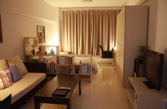 ワンルーム家具配置例