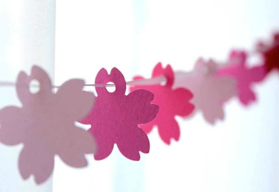 手作りかわいい桜ガーランド作り方 紙で簡単な春飾り Interior