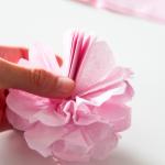 紙の八重桜作り方