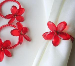 花のナプキンリング