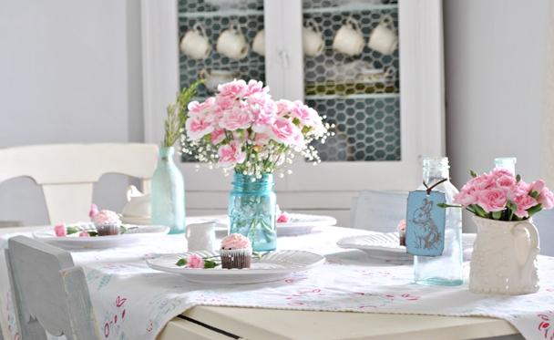 母の日テーブル飾り方