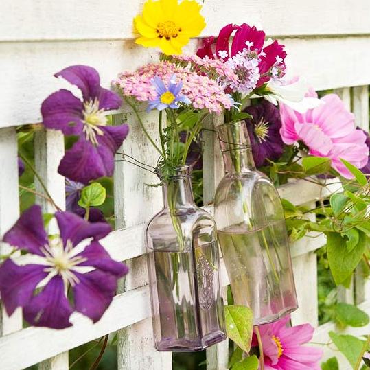 春お庭フェンス飾り方