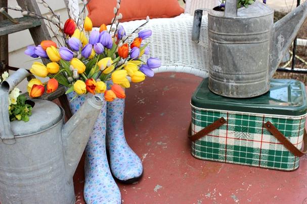 玄関前お花かわいい飾り方