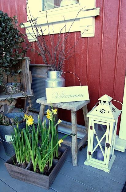 玄関の春デコレーション方法