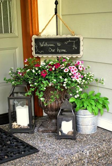 夏玄関お花飾り方