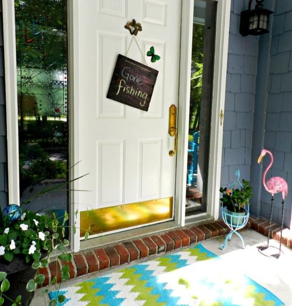 玄関トロピカル飾りアイデア