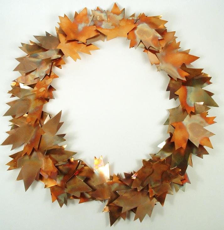 枯れ葉リース作り方