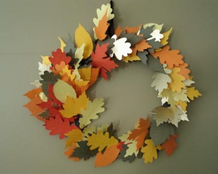 紅葉の秋リース手作り