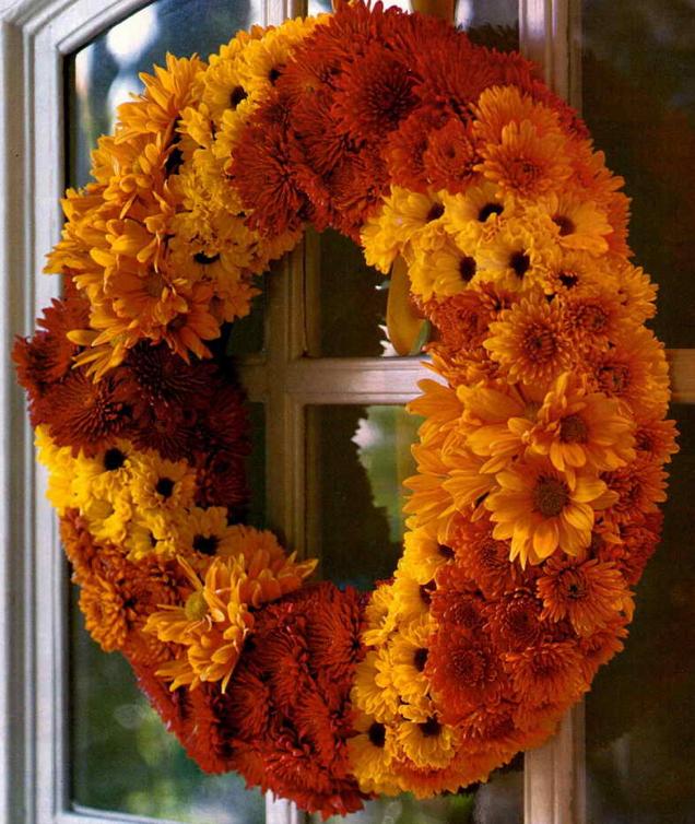秋の花リース