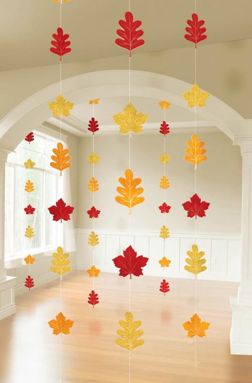 秋の落ち葉ガーランド手作り