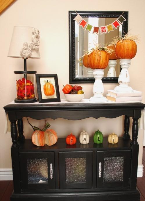 玄関かぼちゃデコレーション