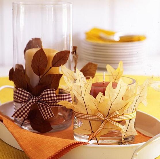 秋のキャンドル作り方