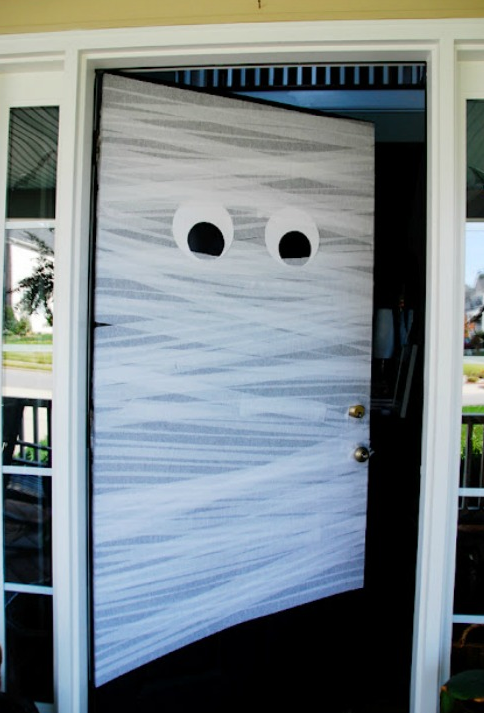 ハロウィンデコレーション玄関ドア