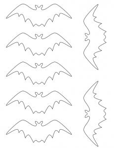 コウモリ印刷テンプレート