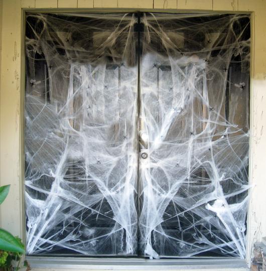 蜘蛛の巣ハロウィン玄関
