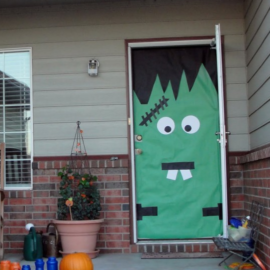 ハロウィン玄関ドア飾り方