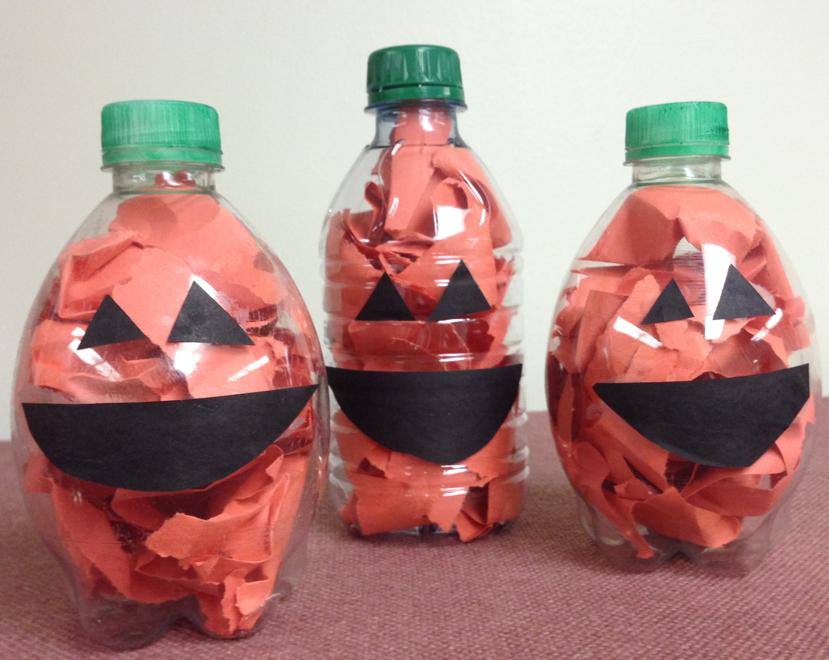 ペットボトルかぼちゃランタン作り方