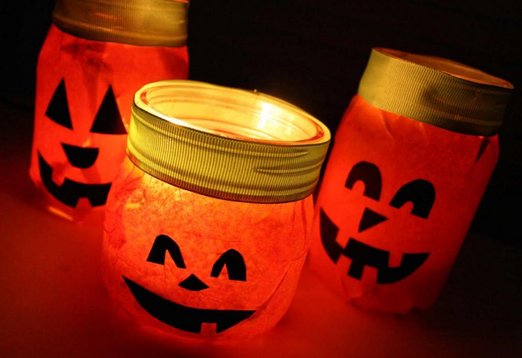 キャンドルかぼちゃランタン作り方