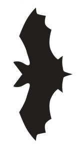 コウモリ型紙
