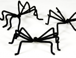 手作りハロウィン蜘蛛クモ作り方