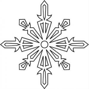 雪の結晶の切り絵型紙