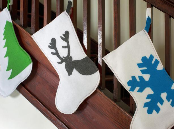 手作りフェルトクリスマスブーツ