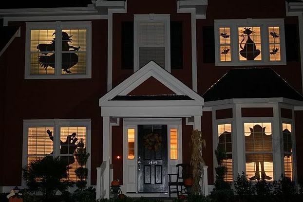 ハロウィン手作り窓の影絵作り方
