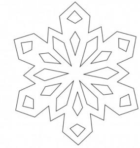 クリスマス切り絵テンプレート