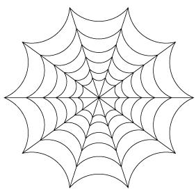 クモの巣テンプレート型紙