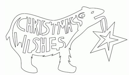 クリスマスカード切り絵テンプレート