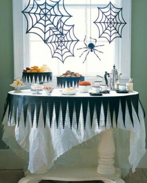 ハロウィン手作りクモ