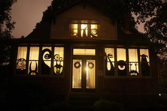 ハロウィン影絵ライトアップ飾り方