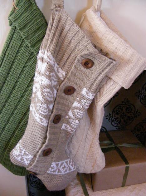 手作り毛糸クリスマス靴下