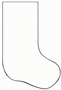 クリスマス靴下の型紙