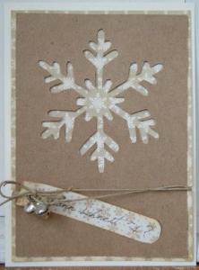 ナチュラルクリスマスカード切り絵