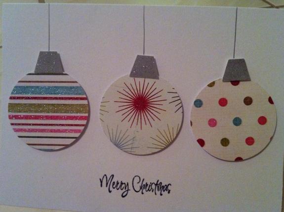 手作り切り絵クリスマスカード