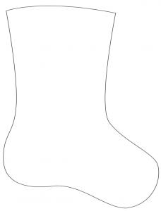 クリスマス靴下テンプレート