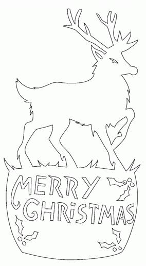 メリークリスマス切り絵型紙
