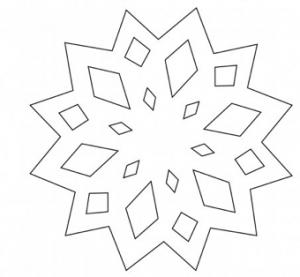 雪の結晶切り絵テンプレート