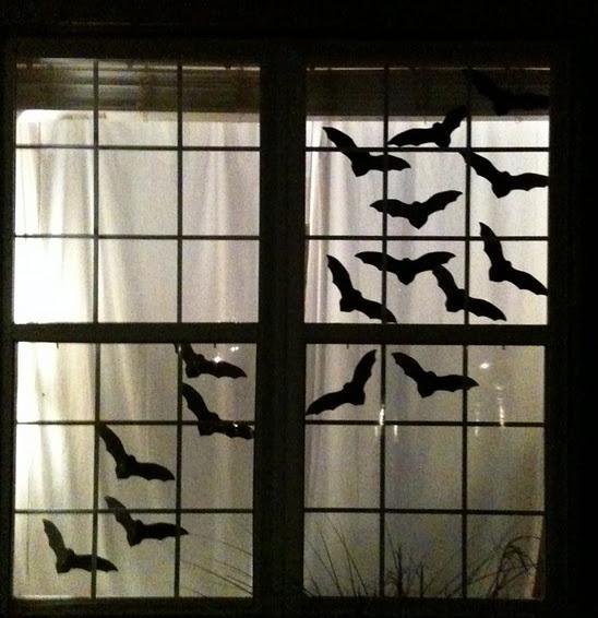 ハロウィン手作り窓飾り