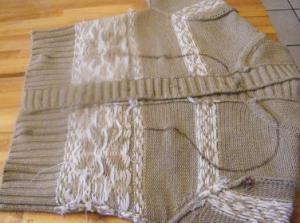 セーターでクリスマス靴下作り方
