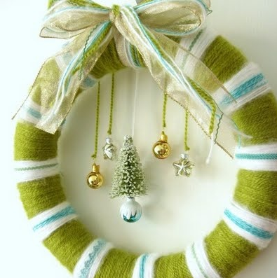 手作り綺麗クリスマスリース