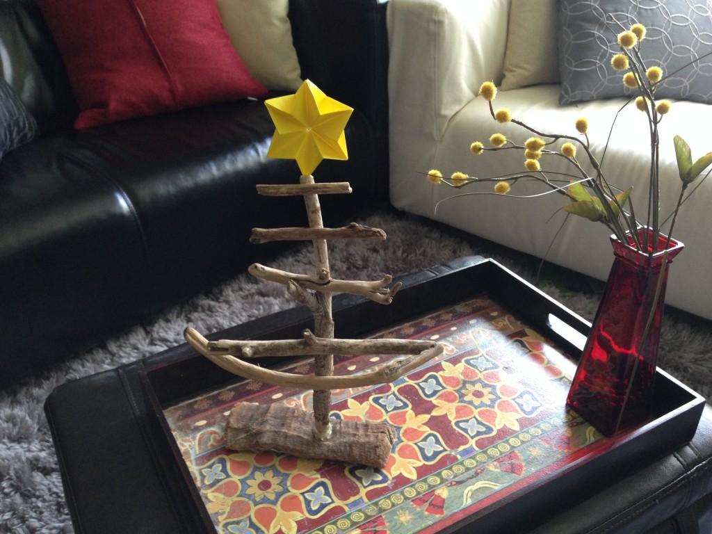 手作り木のクリスマスツリー作り方