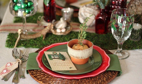 クリスマス食卓デコレーション